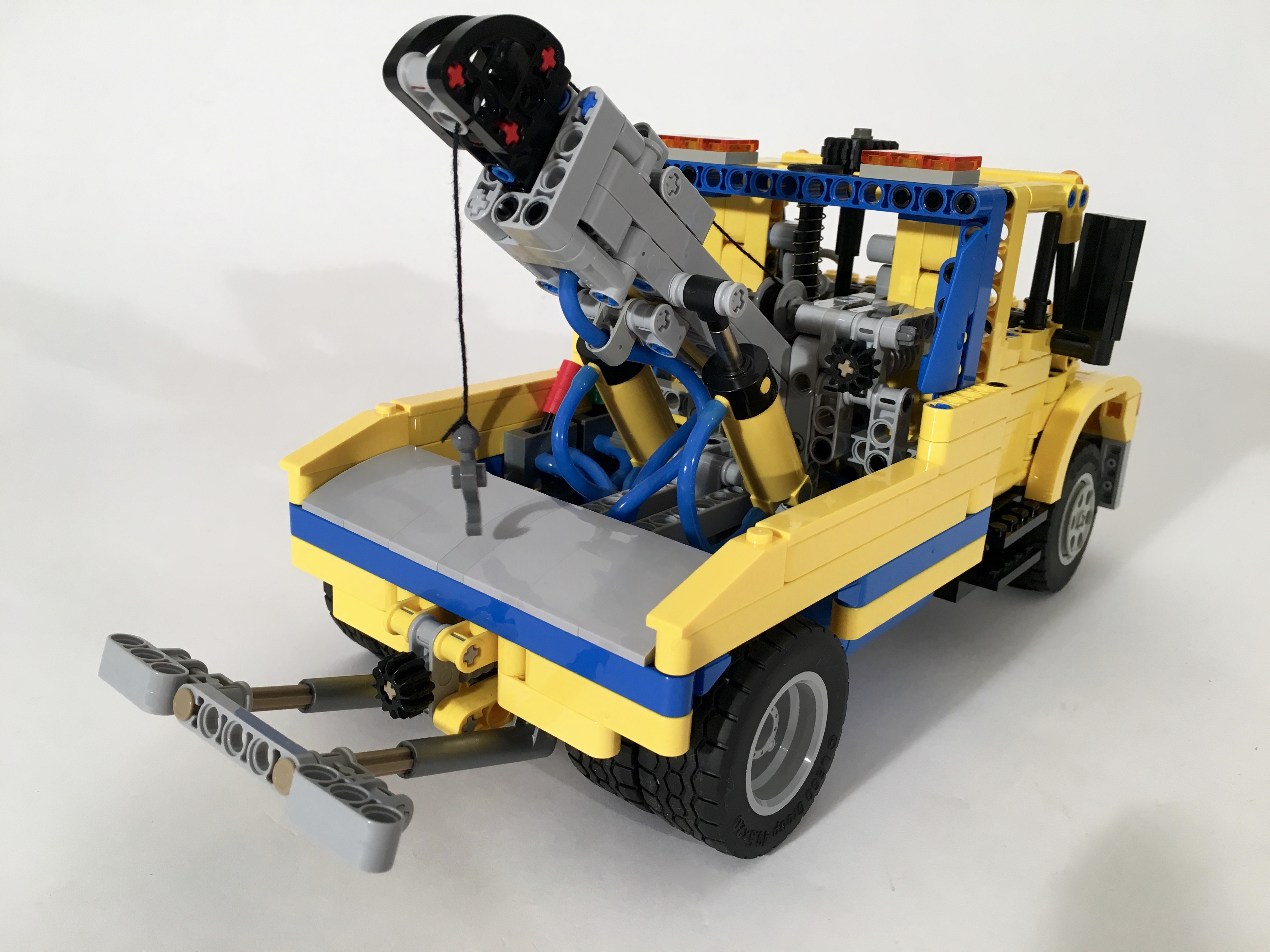 lego technic garbage truck instructions